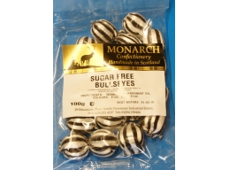 Bulls Eyes Monarch Sugar Free Boiled Sweets 100g