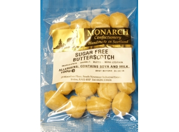 Butterscotch Monarch Sugar Free Boiled Sweets 100g