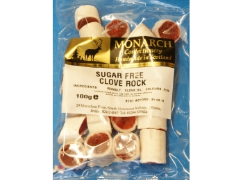 Clove Rock Monarch Sugar Free Boiled Sweets 100g
