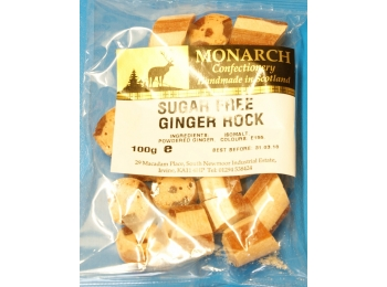 Ginger Rock Monarch Sugar Free Boiled Sweets 100g