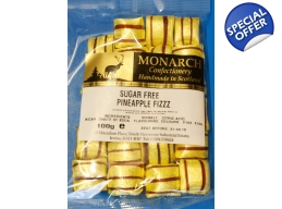 Pineapple Fizz Monarch Sugar Free Boiled Sweets ..