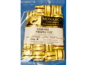 Pineapple Fizz Monarch Sugar Free Boiled Sweets 100g