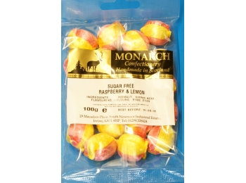 Raspberry & Lemon Monarch Sugar Free Boiled Sweets 100g
