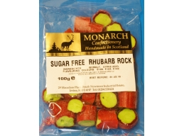Rhubarb Rock Monarch Sugar Free Boiled Sweets 100g