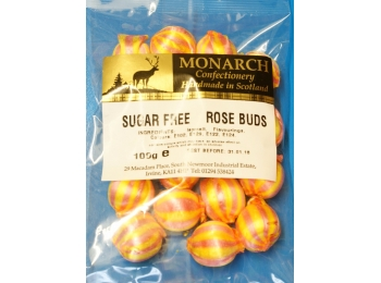 Rose Buds Monarch Sugar Free Boiled Sweets 100g