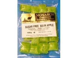 Sour Apples Monarch Sugar Free Boiled Sweets 100g