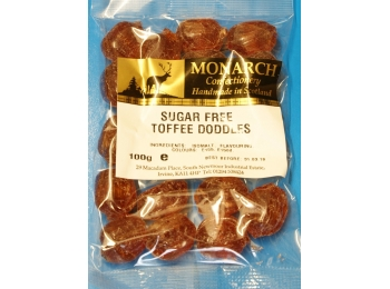 Toffee Doddles Monarch Sugar Free Boiled Sweets 100g