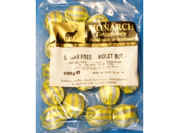 Violet Buds Monarch Sugar Free Boiled Sweets 100g