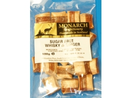 Whisky & Ginger Monarch Sugar Free Boiled Sweets 100g