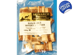 Whisky & Ginger Monarch Sugar Free Boiled Sweets..