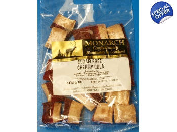 Cherry Cola Monarch Sugar Free Boiled Sweets 100g