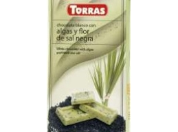 White Chocolate With Algae & Black Seasalt 75g No Added Sugar