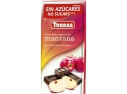 Dark Chocolate With Apple 75g No Added Sugar Gluten Free