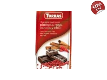 Dark Chocolate With Pink Pepper, Cinnamon & Chilli 75g No Added Sugar