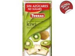 White Chocolate With Kiwi 75g No Added Sugar Gluten Free BBE 11/2018
