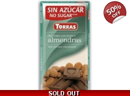 Milk Chocolate With Almonds 75g No Added Sugar G..