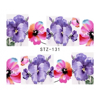 Watercolour Floral Water Decal
