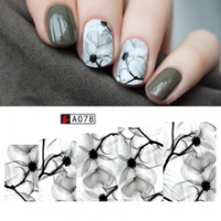Veil/Air Flowers Water Decals A078