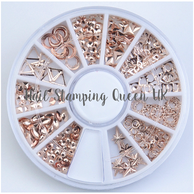 Rose Gold Metal Embellishment Wheel