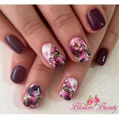 Vintage Floral Water Decal