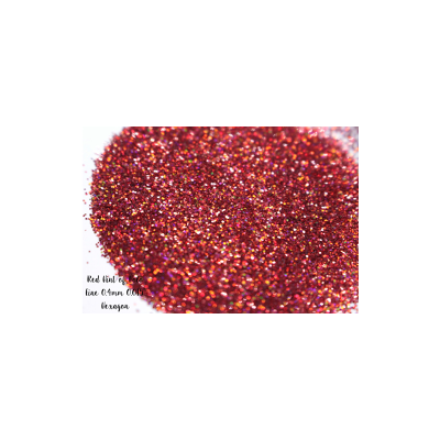 Red Hint of Holo - Fine Glitter