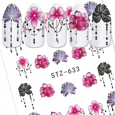 Flower Jewels Water Decal