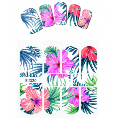 Tropical Palm Water Decal