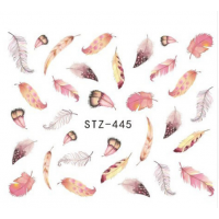 Watercolour Feathers Water Decal
