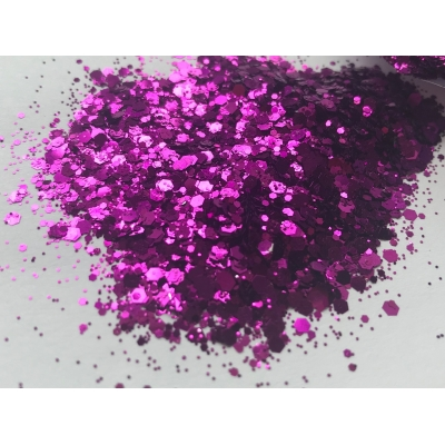 Metallic Plum Hex Glitter