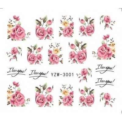 Pink Rose Water Decal