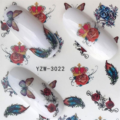 Fantasy Butterfly Water Decal