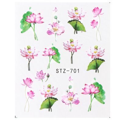 Pink Floral Water Decal