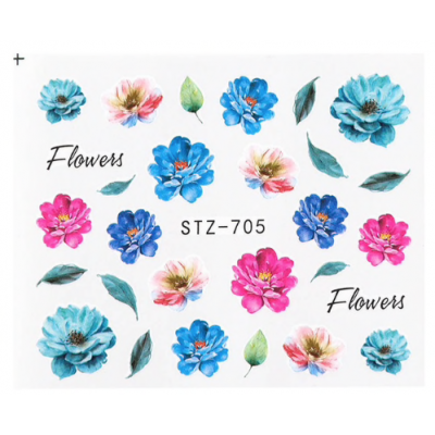 Flowers Water Decal