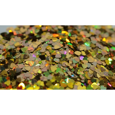 Heart Glitter Mix - Holographic Gold