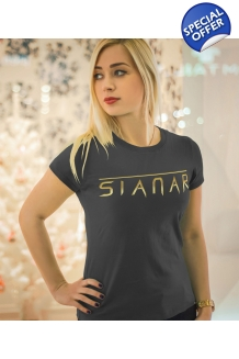 Sianar T-Shirt Ladies -  Gold on Black
