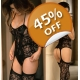 Bodystocking ROYAL s integriranim izgledom halte..