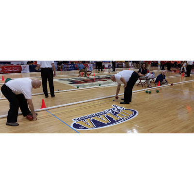 Complete 60'x12' Indoor Bocce Game Package title=