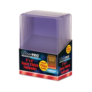Toploads 3x4 130 Pt Thick - Pkg of 10