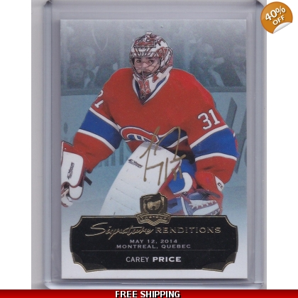 2014-15 The Cup Signature Renditions SRPR Carey Price Montreal Canadiens