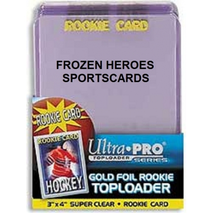 ULTRA PRO TOPLOADS 3X4 ROOKIE GOLD PKG of 25