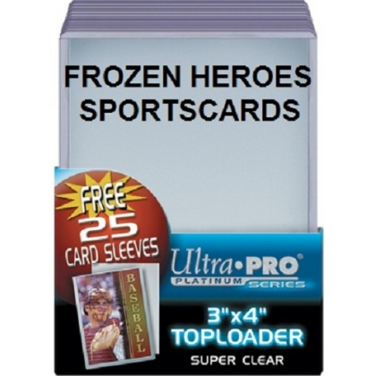 ULTRA PRO TOPLOADS 3x4 REGULAR WITH SLEEVE COMBO PKG of 25