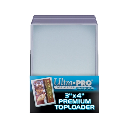 ULTRA PRO TOPLOADS 3X4 ROOKIE GOLD THICK PKG of 25