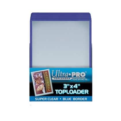 ULTRA PRO TOPLOADS 3x4 COLORED BORDER PKG of 25 *BLACK*BLUE*GREEN*RED*WHITE*
