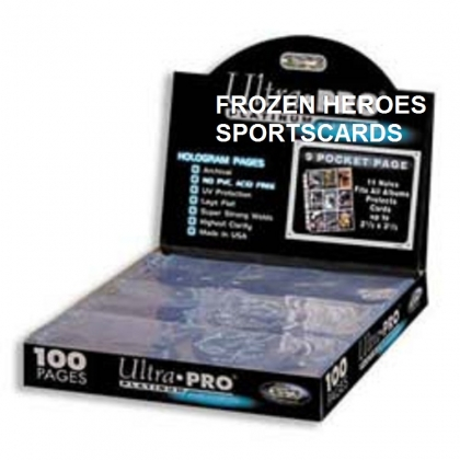 ULTRA PRO PAGES 9 POCKET PLATINUM BOX OF 100