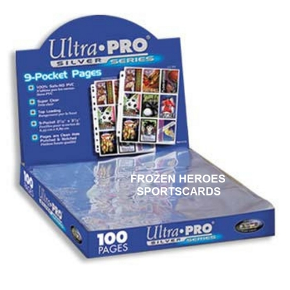 ULTRA PRO PAGES 9 POCKET SILVER BOX OF 100