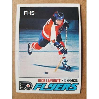 1977-78 Topps 152A Rick Lapointe ERR/without mustache Philadelphia Flyers