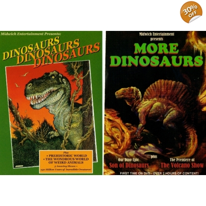 """More Dinosaurs"" and ""Dinosaurs, Dinosaur, Dinosaurs"" DVDs"