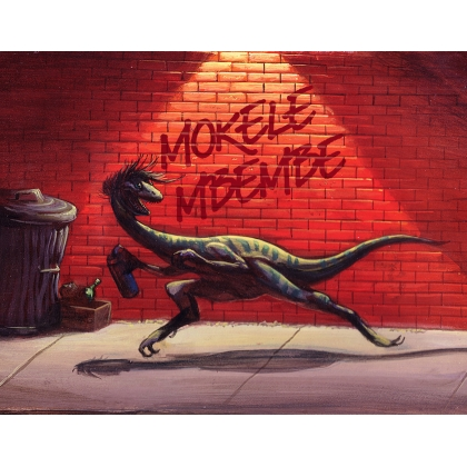 Dino Alley Print with customized graffitti
