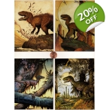 4 Fearsome Predators Magnet Set- art b..
