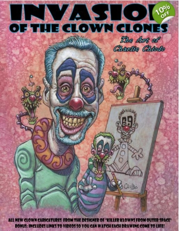 INVASION OF THE CLOWN CLONES sketchbook